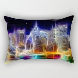 Starry Night New York City Rectangular Pillow