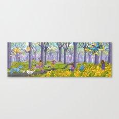 Kites and Daffodils Canvas Print