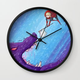 Little Red vs. The Demon Wolf Wall Clock