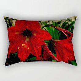 Blood red hibiscus Rectangular Pillow
