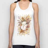 face Tank Tops featuring Slumber by Freeminds