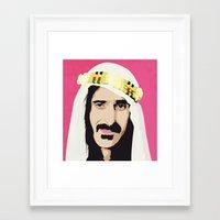 zappa Framed Art Prints featuring ZAPPA! by f_e_l_i_x_x