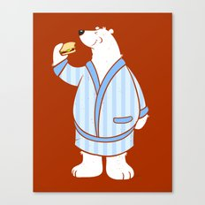 Burger Bear Canvas Print