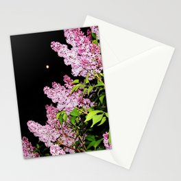 Lilacs at Night Stationery Cards