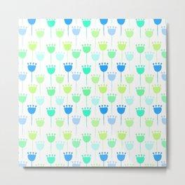 Pretty Plain Foral Pattern Metal Print