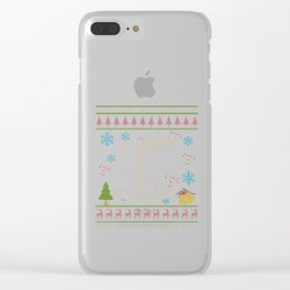 Trout Fishing Fly Fishing Christmas Ugly Holiday Shirt Clear iPhone Case