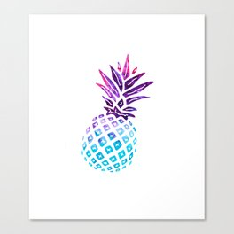 Pineapple Paradise - Ice Dye Canvas Print