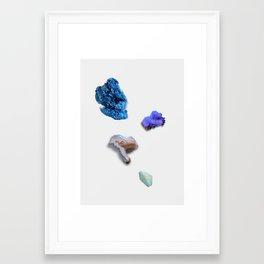 FLUORESCENT MINERALS Framed Art Print