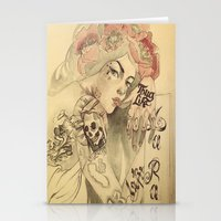 mucha Stationery Cards featuring mucha cholo by Paolo Zorzenon
