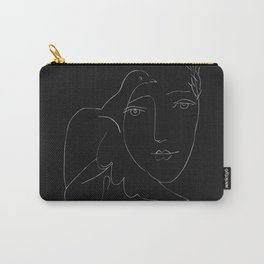Picasso Line Art - Dove and Woman Carry-All Pouch