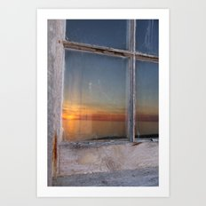 Window Sunset  Art Print