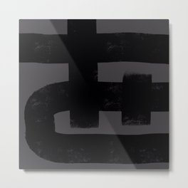Nikko Abstract Series - Dark Line 1 Metal Print