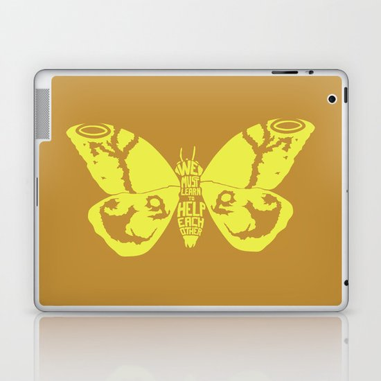 We Must Learn to Help Each Other -Mothra vs. Godzilla Laptop & iPad Skin