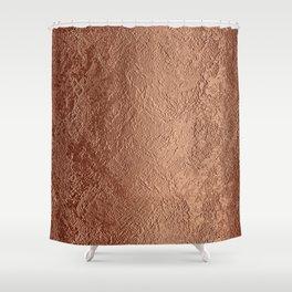 Textured Copper Foil Shower Curtain