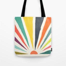 Rainbow ray Tote Bag