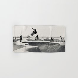 Skateboarding Print Venice Beach Skate Park LA Hand & Bath Towel