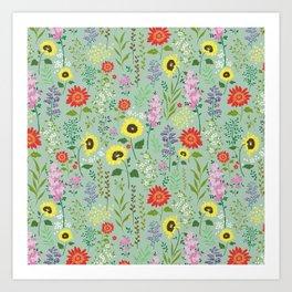 flower garden 2 Art Print