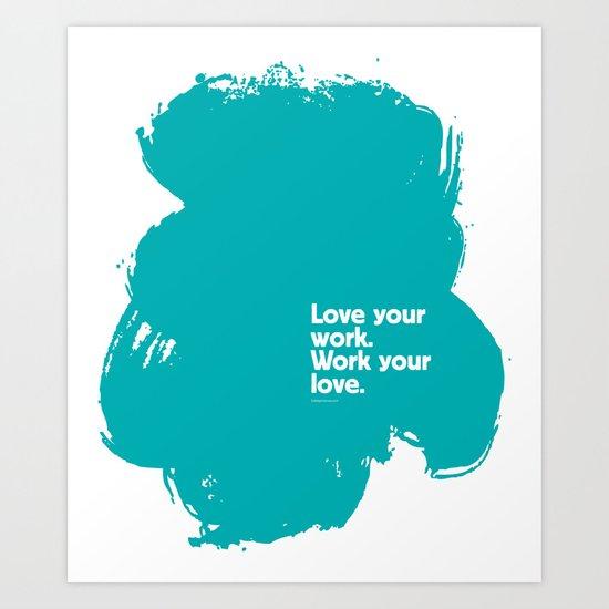 Paint (Blue) Art Print