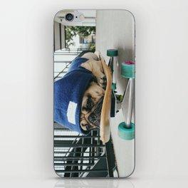 Skater Pug iPhone Skin