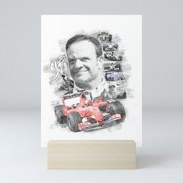 Rubens Barrichello Mini Art Print