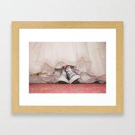 HER SHOES Framed Art Print