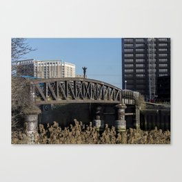 On top of the bridge Canvas Print