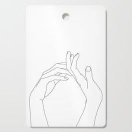 Hands line drawing illustration - Abi Cutting Board