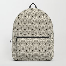 Retro art deco pattern ornament. Backpack