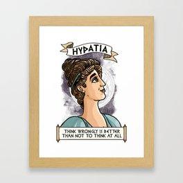 Hypatia of Alexandria Framed Art Print