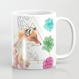 Fox with Succulents Coffee Mug