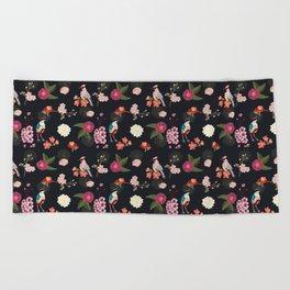 Eastern delight Japanese garden Beach Towel