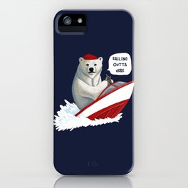 Sailing Outta Here iPhone Case