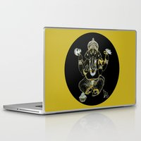ganesha Laptop & iPad Skins featuring GANESHA by Dianah B