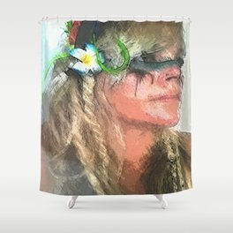 colores taina Shower Curtain