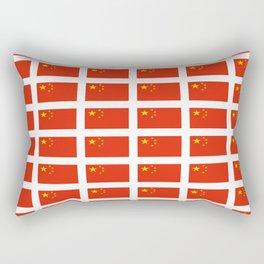 flag of china -中国,chinese,han,柑,Shanghai,Beijing,confucius,I Ching,taoism. Rectangular Pillow