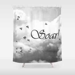 Soar Birds in Flight A610BW Shower Curtain