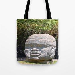 Olmeca head Tote Bag