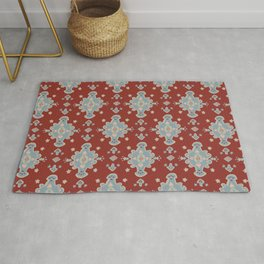 Cromwell Carpet Persian Rig Pattern Deep Red Rug