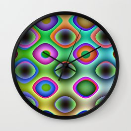 Crazy Candy's Abstract 4 Wall Clock