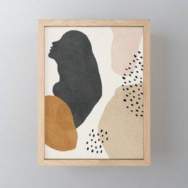 Woman silhouette art, Mid century modern art Framed Mini Art Print