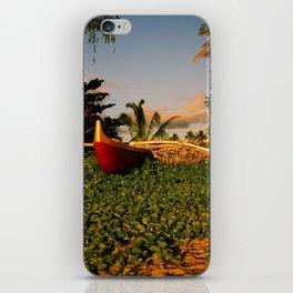 Red Canoe iPhone Skin