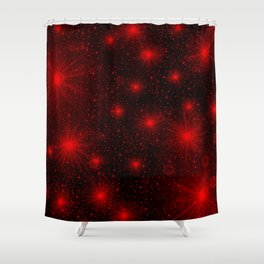 small red hearts and stars Shower Curtain