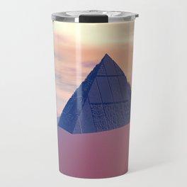 Ancient Pyramid In Desert Travel Mug