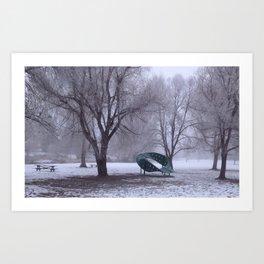 Frozen Park Art Print
