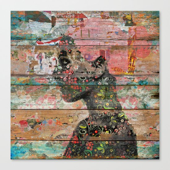 Inner Nature (Profile of Woman) Canvas Print