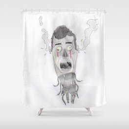 Android head Shower Curtain