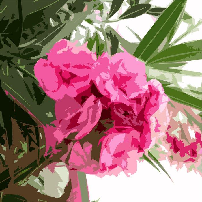 Summer oleander Duvet Cover