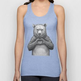 Bear with love Unisex Tank Top