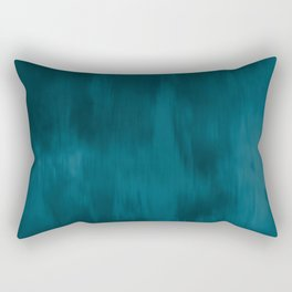 Tropical Dark Teal Inspired by Sherwin Williams 2020 Trending Color Oceanside SW6496 Fusion Water Color Blend Rectangular Pillow