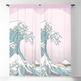 Great Wave Pastel Blackout Curtain